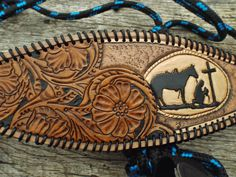 custom bronc rope halter from Rockin Bs Leather Art, Tooled Leather, Custom Leather, Bronc Halter, Leather Tooling Patterns, Horse Halters, Western Horse Tack, Bicycle Women, Headstall