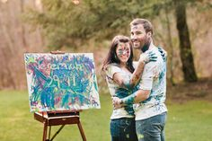 I think this would be so CUTE if Christopher and I did this for our engagement photo shoot. Instead of a verse it would be the wedding date! The Wedding Date, Wedding Shoot, Wedding Pictures, Funny Engagement Photos, Engagement Humor, Paint Fight, Cute Couple Poses, Pre Wedding Photoshoot, Engagement Photography