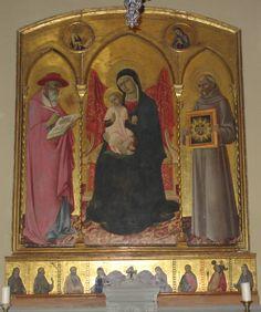 Sano di Pietro. Madonna with Saints. Mid-15th century. Basilica dell'Osservanza (Siena).