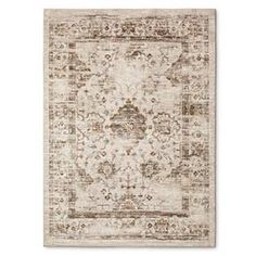 Tan Vintage Distressed Area Rug (5'X7') - Threshold™ : Target