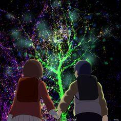 Satoru et Kayo (Boku Dake ga Inai Machi/Erased) sur une image de synapse. Cet animé est en cours de diffusion, je vous conseille de le regarder !!!
