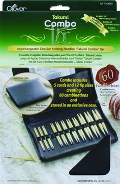 """Clover Interchangeable Circular Knitting Needles """"Takumi Combo"""" Set ** Want additional info? Click on the image."""