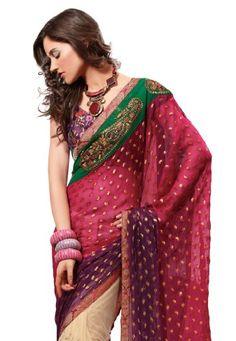 Indian Designer Red & Green Embroidered Saree Fabdeal http://www.amazon.com/dp/B008FWXEBM/ref=cm_sw_r_pi_dp_Qd9Wtb1PDBJHQBV8