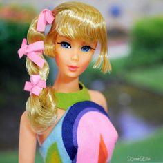 "Talking Barbie wearing ""Sunflower"" fashion from 1967-68."