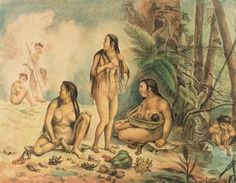 Indigenous Population Of Cantagalo, C.1826 by Jean Baptiste Debret (1768-1848, France)