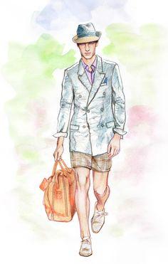 Minni Havas fashion illustration for men