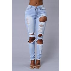 Ragamuffin Jeans Light ($40) ❤ liked on Polyvore featuring jeans, light blue jean and light blue jeans