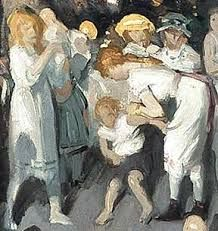 """""""Cliff Dwellers"""" - George Bellows (Detail)"""