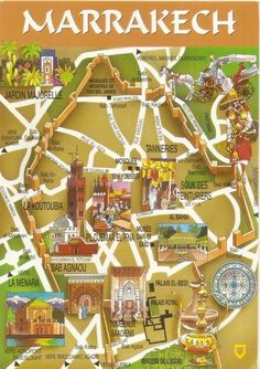 Vintage Travel My UNESCO World Heritage Postcards: Morocco - Medina of Marrakesh Morocco Travel, Africa Travel, Marrakech Travel, Excursion Marrakech, Africa Destinations, Marrakech Morocco, Vintage Travel Posters, Trip Planning, World