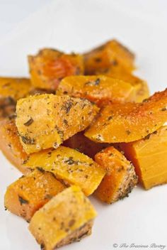 Clean Eating Herb Baked Butternut Squash