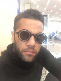 SPOTTED: Brazilian national football player and Juventus right back Dani Alves gets his game on in a pair of MYKITA / Damir Doma sunglasses, MADELEINE. my-k.it/danialves
