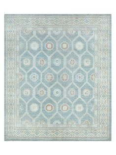 "Kotan Hand-Knotted Rug (8'2""x9'9"") from One-of-a-Kind Rugs on Gilt"