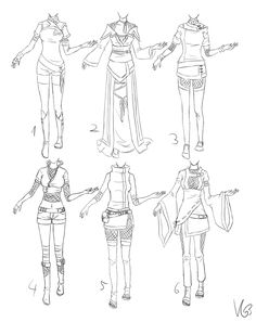 ninja-ish outfits... by Kohane-chan I used to try and draw outfits like this when I was 12