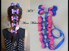 Ribbon Hair Bows, Diy Hair Bows, Diy Bow, Kanzashi Tutorial, Bow Tutorial, How To Make Hair, How To Make Bows, Hair Decorations, Making Hair Bows