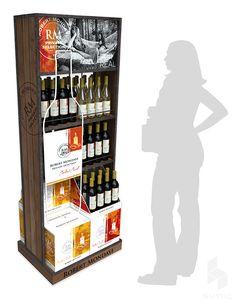 Displays by srdjan simic at Coroflot.com Pos Display, Wine Display, Product Display, Display Stands, Pos Design, Retail Design, Promotional Stands, Wine Stand, Supermarket Design