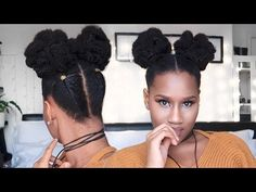 """5 min EASY Natural 4C hair """"puff-do"""" ft Her given Hair CLIP INS! - YouTube"""