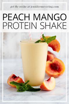Peach Mango Protein Shake - Jennifer Meyering