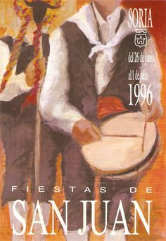 Cartel Fiestas de San Juan 1996. Diseño: Javier Arribas Pérez