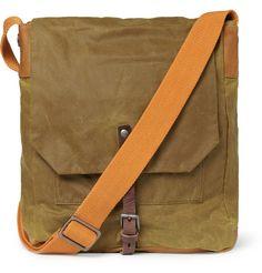 ++ jonathan waxed cotton messenger bag