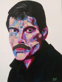 Freddie Mercury  Acrilica 30X40