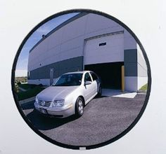 """You are buying one Campus Crafts 36"""" PSRU-36 Acrylic Safety Security Round Outdoor Mirror. These Outdoor Mirrors have a specially weather sealed backing, hanging hardware, and a heavy duty sealed EDPM rubber molding. Acrylic mirrors are normally recommended for outdoor us but we have Glass Mirrors available upon request. All mirrors come complete with fully adjustable, easy to install, hanging hardware. We have other sizes available on our website."""