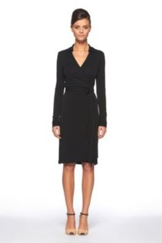 DVF   New Jeanne Two Dress In Black, Pre-Fall 2012: Macadam Diva