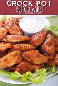 Crock Pot Buffalo Wings Recipe! Super for football season!