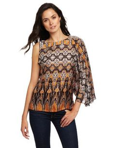 Anne Klein Collection Women's One Shoulder Draped Top Anne Klein. $83.31. 100% Silk. Patterned. Made in China. Woven. Dry Clean Only