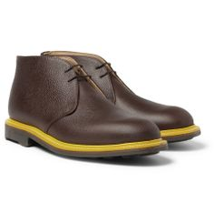 Mark McNairyTextured-Leather Chukka Boots|MR PORTER