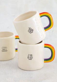 Terrific Pic pottery mugs handles Ideas Regenbogen-Becher – natürliches Leben Funny Coffee Mugs, Coffee Humor, Funny Mugs, Unique Coffee Mugs, Ceramic Mugs, Ceramic Pottery, Pottery Mugs, Crackpot Café, Cerámica Ideas