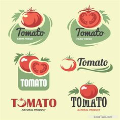 Retro tomato logos creative design vector free vector download