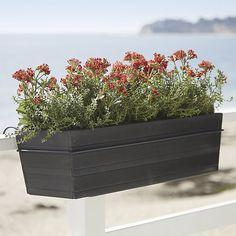 Clean taper shapes in graduated slats have the look of wood with the easy-care of plastic, making them a natural for outdoor use. Grey wash finish adds to the organic look. Pair with our matching rail hook for easy hanging.