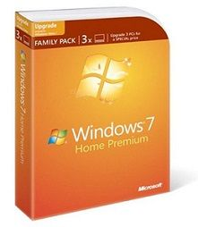 Buy Microsoft Windows 7 Home Premium Upgrade Family Pack With Cheap Price