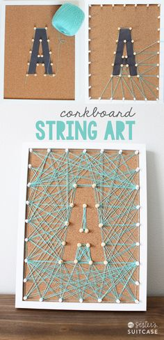 corkboard string art                                                                                                                                                      More