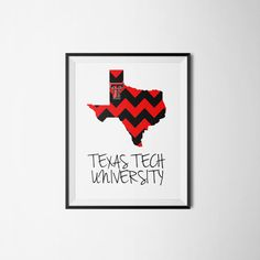 Custom Texas map with Texas Tech  logo and color overlay. Able to customize in many different ways. https://www.etsy.com/listing/216462446/limited-edition-texas-custom-print-texas