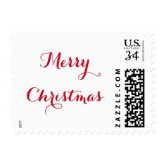 Elegant Merry Christmas Greetings US Postage Stamp