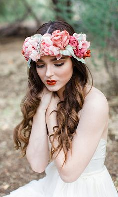 Something like this for a wedding headpiece instead of a veil or tiara. Perfect!