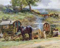 Gypsy Encampment © John Atkinson