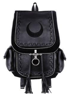 Restyle-Rucksack-Gothic-Mond-Tasche-Crescent-Moon-Sailor-90s-Witchy-Bag-Backpack www.1planet7billionworlds.com