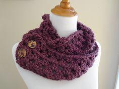Free Crochet Pattern...Fiona Button Scarf!