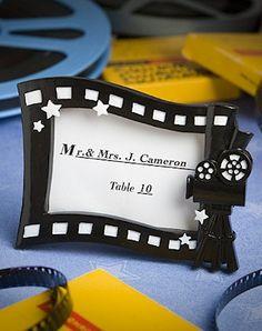 Hollywood Movie Themed Place Card Frames
