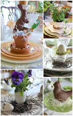 Easter dinner table setting - LOVE LOVE LOVE!!!!   Happy Easter ...