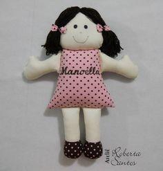 Boneca, Enfeite De Porta | Ateliê Roberta Santos | 2D456C - Elo7