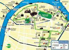 バンコクの旧市街に自転車専用レーン-自転車で寺院巡りも