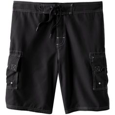 Men's Beach Rays Solid Board Shorts (240 NOK) ❤ liked on Polyvore featuring men's fashion, men's clothing, men's swimwear, black, mens boardshorts, mens clothing, mens board shorts swimwear, mens swimwear and mens apparel