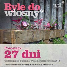Byle do wiosny - #countdown - 27 dni: https://sklep.kwiatkibratki.pl/shop-2/doniczki-i-skrzynie/kwietnik-z-europalety-belka/ - #urbangardening / kwietnik z europalet