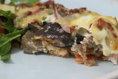 More than Words: Roasted Eggplant, Pumpkin and Bacon Frittata