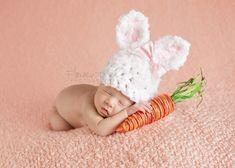 Newborn Bunny Hat Newborn Photo Prop Newborn Easter Prop.