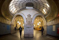 Heidelberger Platz Metro Station in Berlin, Germany