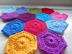 Leftover Yarn and Tiny Crochet Hexagons   Little Tin Bird